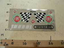 STICKER,DECAL FIAT FINISH FLAG SET OF 2 STICKERS RARE VINTAGE STICKERS LARGE