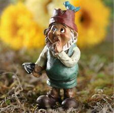 Miniature Fairy Garden Gnome w/ Bird Hat - Buy 3 Save $5