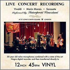 Interpreti Veneziani - Vivaldi Marais & Sarasate: Live Concert Recordings [New V