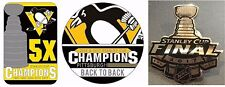 2017 PENGUINS STANLEY CUP FINAL / BACK TO BACK  / 5X CHAMPIONS PIN SET OF THREE