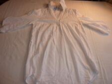 RED HERRING SIZE 10 WHITE COTTON TUNIC TOP 3/4 SLEEVES VGC