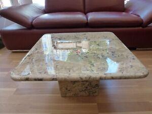 Marmor Tisch Couchtisch Vintage Tischplatte 60 x 60cm , Höhe 30 cm