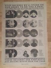 Stiff records lene lovich john lewie 1978 press advert Full page 28x 39cm poster