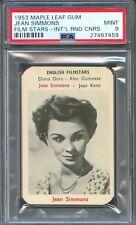 1953 Maple Leaf Gum Film Card JEAN SIMMONS Actress HAMLET Spartacus PSA 9 MINT