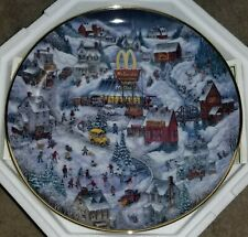 "Franklin Mint McDonalds Limited Numbered Collector Plate ""Golden Country"" Coa"