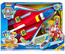 🔥 PAW Patrol, Super PAWs, 2-in-1 Transforming Mighty Pups Jet Command Center 🔥