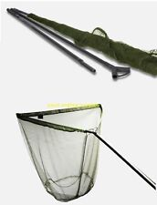 "Saber 42"" Lightweight  Carp Pike Fishing Landing Net + 2pc 6ft Carbon Handle Bag"