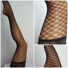 Halterlose Netzstrümpfe overknees Stockings schwarz Spitze  one size sexy klein