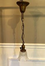 "Single Wired Antique Fixture With Vintage Globe 23"" Long 53C"