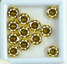30 Ct/12 Pcs  Natural AGSL Certified Round Yellow Sapphire Loose Gemstone Lot