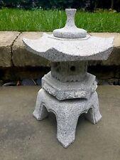 13' Rokkaku Japanese  Carved Granite Garden Lantern Stone pagoda