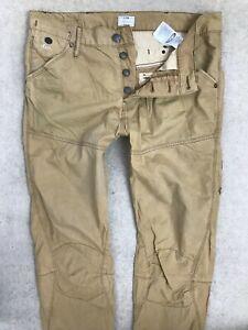 G-Star Raw Motor Tapered Fit Denim Jeans Mens W32 L34 Dark Khaki GSRD Combats