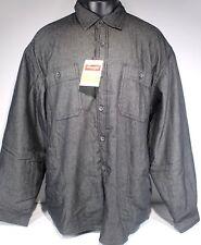 Wrangler Men's Black Denim Jean Jacket Shirt Fleece Lined XL New With Tags