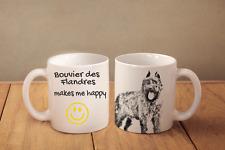 """Bovier des Flandres - ceramic cup, mug """"Makes Me Happy"""", Ca"""