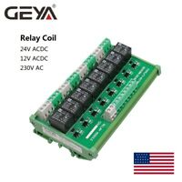 8 Channel Interface Relay Module 12V 24V DIN Rail Panel Mount for Automation PLC