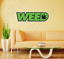 "Weed Marijuana Ganja Pot Grass Smoking Wall Sticker Room Interior Decor 25""X10"""