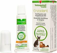 Vetoquinol Enzadent Enzymatic Toothpaste Kit + Fingerbrush for Cats & Dogs –...