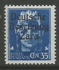 STAMPS-GERMAN OCCUPATIONS-DALMATIA-ZARA. 1943 35c Blue. SG: 7. Mint Never Hinged