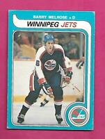 1979-80 OPC  # 386 JETS BARRY MELROSE  ROOKIE EX CARD (INV# C7564)