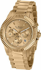 Jacques Lemans Unisex La Passion 42mm Gold Dial Stainless Steel Chrono Watch