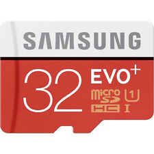 32/64 GB Samsung Evo Plus MICROSD 32 64 SDHC/SDXC Classe 10 Scheda Conf. Orig.