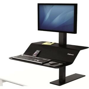 NEW Fellowes 8080101 Lotus VE Single Sit-Stand Workstation Clamp Mount Sit Stand