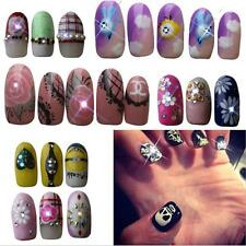 2 Pcs NFC Nail Art Tips DIY Sticker LED Light Flash Phone Scintillation Decal