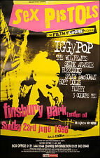 "Huge vintage Sex Pistols poster - the Filthy Lucre tour - from 1996 60"" x 40"""