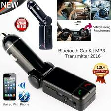 Wireless Bluetooth Car Kit FM Transmitter MP3 USB LCD Handsfree For Mobiles