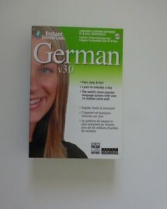 Instant Immersion German V3.0 Win/mac Dvd-rom