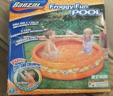 "New Inflatable Kids Pool By Banzai Froggy Fun 60"" x 13"" deep"