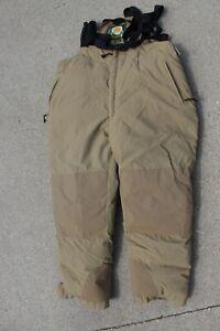 Cabelas Premier Northern Goose Down Bibs Pants Mens 3XL Khaki Size Zip EUC