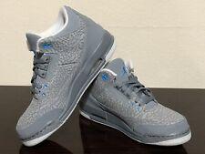 Air Jordan 3 Retro GS 'Cool Grey Blue Glow' 441140-015 SZ 6Y AUTHENTIC