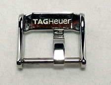 TAG HEUER POLISHED TANG BUCKLE WITH PIN 15mm FOR LEATHER OR RUBBER STRAP
