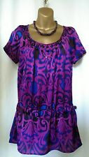 Epilogue Embellished Dropwaist Top Vibrant Colours of Purple and Blue 12