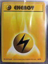 100/102 LIGHTNING ENERGY ORIGINAL 1999 BASE Pokemon Card NEVER USED/PLAYED NM-M