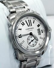 Cartier Calibre De Cartier W7100015 Automatic Stainless Box & Papers *BRAND NEW*
