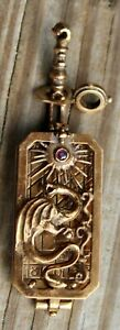 RARE & UNIQUE Pocket Sundial? DRAGON Gold Filled? ROSE GOLD? Watch Fob? LOT B