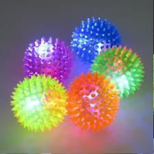 6 PCS Light-Up Spikey LED Ball Dog / Cat Flashing Sensory Fun Blinking Spiky Toy