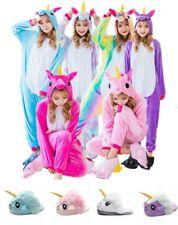 Cute Cartoon Unicorn Onesie2 Sleepwear Animal Costume Cosplay Pyjamas Slippers