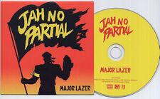 MAJOR LAZER Jah No Partial 2012 UK 1-track promo CD Flux Pavilion