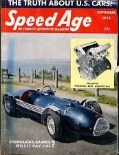Speed Age Magazine September 1953 Studebaker VG No ML 051917nonjhe