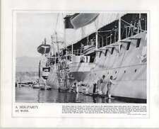 WW1 francese sottomarino Delfino Tolone lato Festa al lavoro di pulizia SCAFI