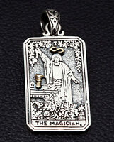 THE MAGICIAN TAROT CARD 925 STERLING SILVER PENDANT NEW MENS FOR CHAIN NECKLACE