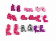 Lot Of 9 BARBIE DOLL SHOES STRAPPED HIGH HEELS PINK PURPLE GRAY ACCESSORIES