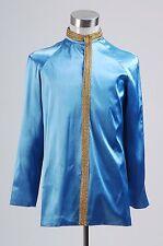 Star Trek Jame Kirk Spock Blue Satin Jacket Cosplay Costumes for Men