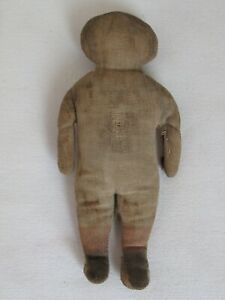 """Antique Cloth Little Girl Doll  6 3/8"""" as is"""