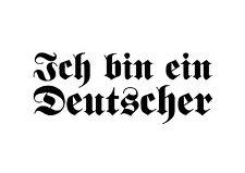 Ich bin ein Deutscher Tuning Decal Oldschool Stickerbomb Folie Aufkleber