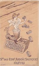 Rare Chromo Arsène Saupiquet Nantes Sardines à la Ravigote en boite conserve n2