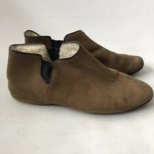 Vintage Vero Pixie Boots Tan Sheepskin Ankle House Booties Made in England 6.5-7